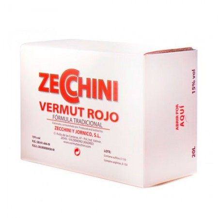 VERMUT ZECCHINI ROJO BOX 20L